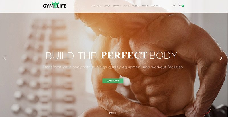 GymLife themes wordpress site web club fitness gym