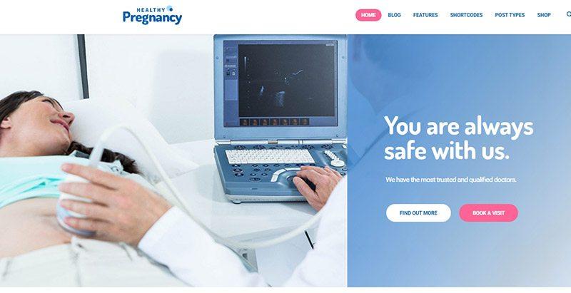 Healthy pregnancy themes wordpress creer site web etablissement sanitaire hopital clinique