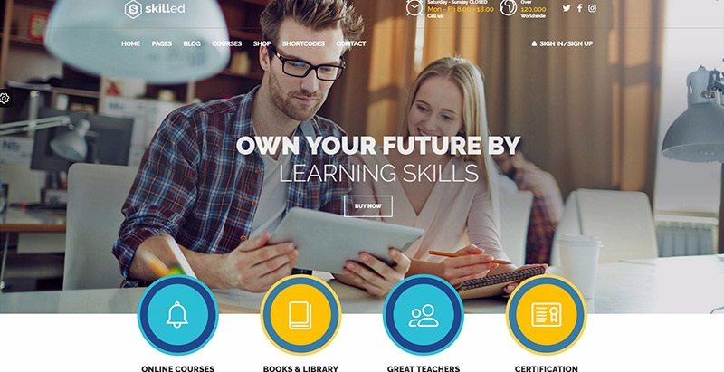 Skilled themes wordpress creer site web ecole college lycee universite