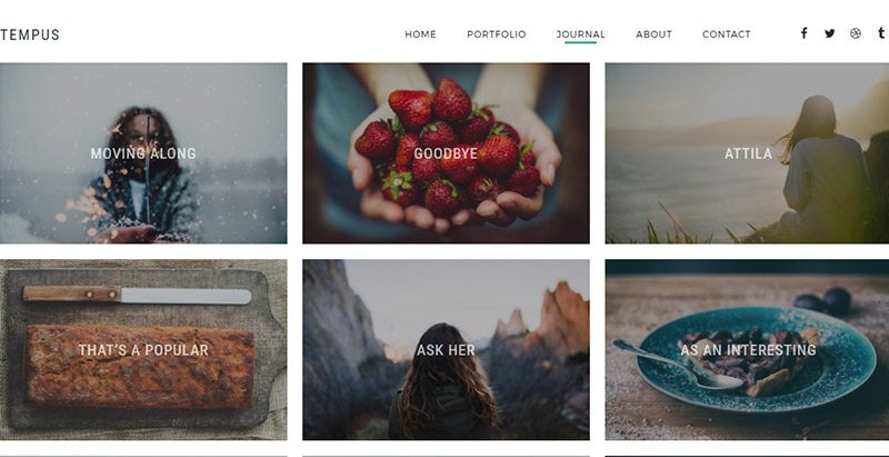 Tempus Themen WordPress erstellen Website Fotografie Portfolio Studio Fotograf