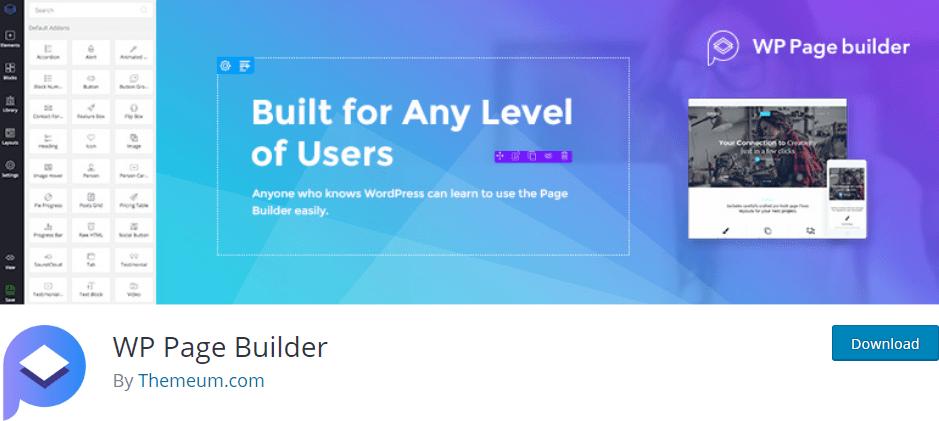 Wp page builder – wordpress plugin metabox