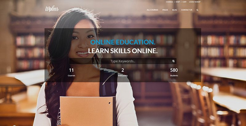 Wplms créer site web elearning formation enseignement blogpascher6