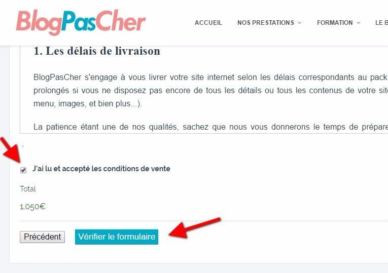 Condition generale de vente blogpascher