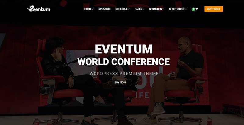 Eventum themes wordpress creer site web organisateur evenements seminaire conference