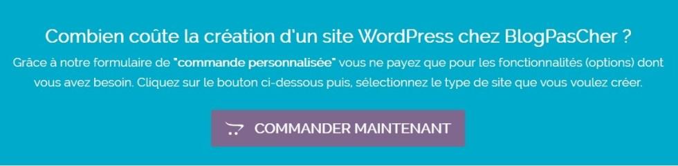 Formulaire de commande personnalisé wordpress