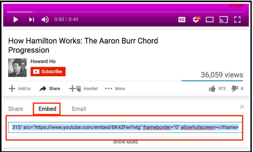 Téléchargement de video sur youtube