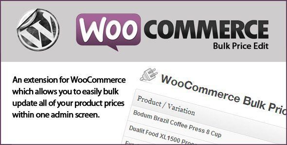 Wc bulk price edit plugin wordpress pour édition rapide