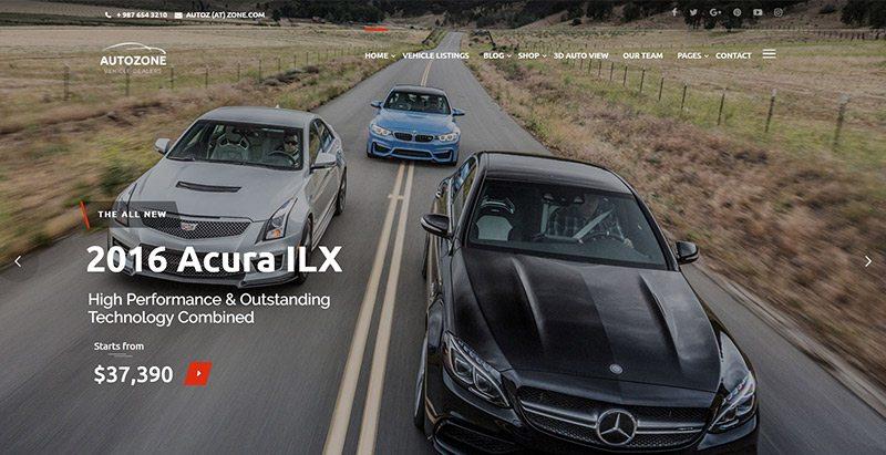 Autozone themes wordpress creer site web concessionnaire voitures mecanicien vente achat vehicules