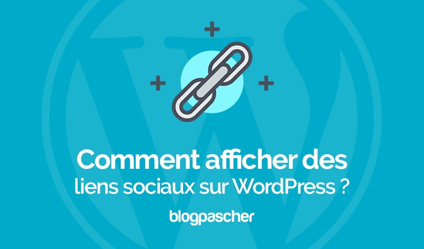 Comment Afficher Des Liens Sociaux Sur Wordpress