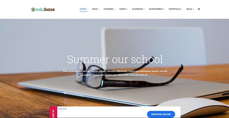 Edubase themes wordpress creer site web e learning formation universite ecole college