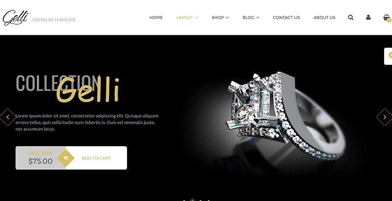 Gelli themes wordpress creer site web ecommerce boutique ligne restaurant vêtements