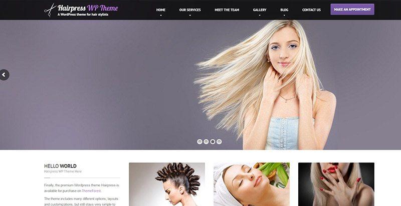 Temas de WordPress para crear un sitio web de peluquería | BlogPasCher