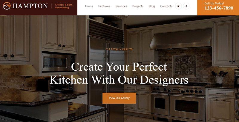 th mes wordpress pour site web d 39 entreprise de r novation blogpascher. Black Bedroom Furniture Sets. Home Design Ideas