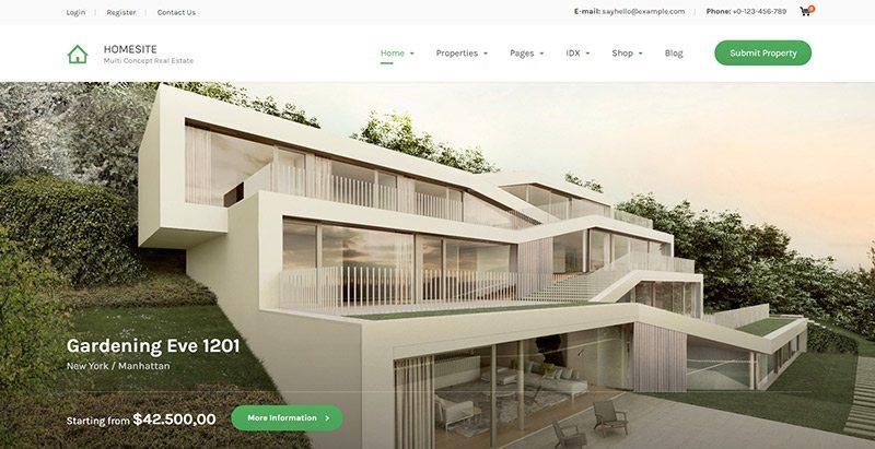 Temas de WordPress para un sitio web de venta de apartamentos ...