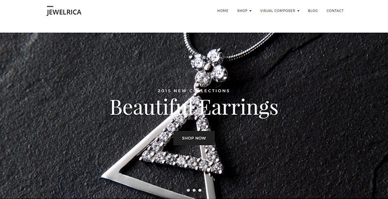 Jewelrica Themes Wordpress Creer Site Web Ecommerce Boutique En Ligne Mode Fashion