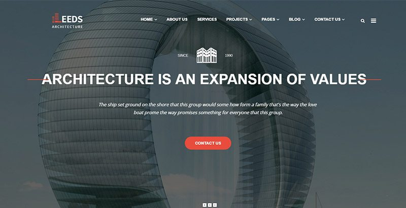 Leeds themes wordpress creer site web entreprise compagnie agence pme finance consulting