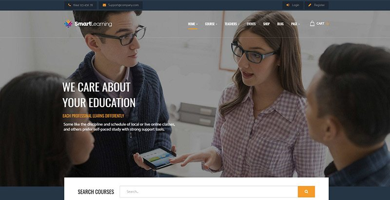 Smart learning themes wordpress creer site web e learning formation universite ecole college