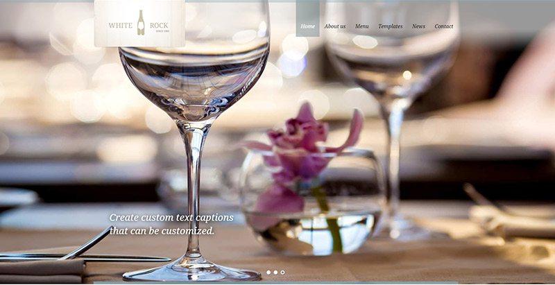 meilleurs thèmes WordPress pour créer un site Web de vente en ligne de vins - White rock