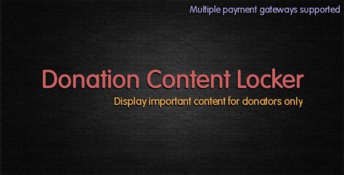 Donation content locker plugin wordpress pour blocage contenu