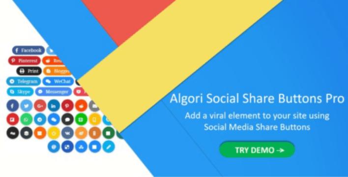 Algori social share buttons pro for wordpress gutenberg 1