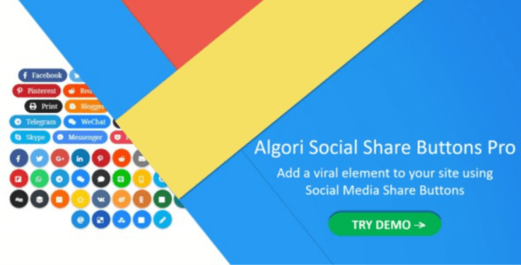 Algori social share buttons pro for wordpress gutenberg 1