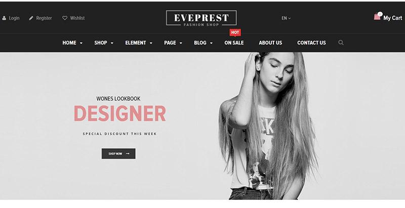 Eveprest themes wordpress creer site web ecommerce boutique en ligne magasin en ligne vendre acheter internet