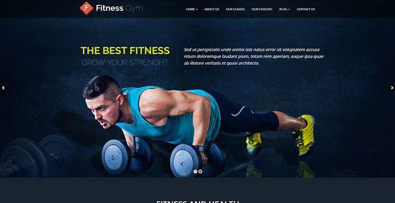 Fitnessgym themes wordpress creer site web clubs fitness yoga