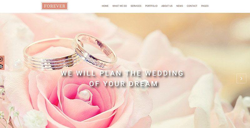Forever themes wordpress creer site web mariage fiançailles évènements organisateur
