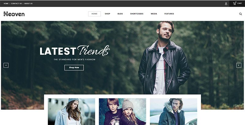 Heaven themes wordpress creer site web mode e commerce boutique en ligne vetements