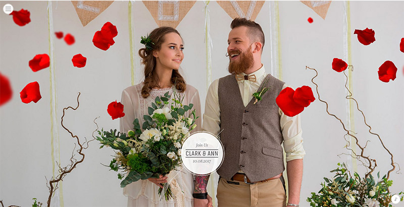 Idylley themes wordpress creer site web mariage fiancailles epouse marie mariee
