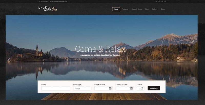 Lakeinn themes wordpress creer site web agence voyages tourisme hotel tour operateur