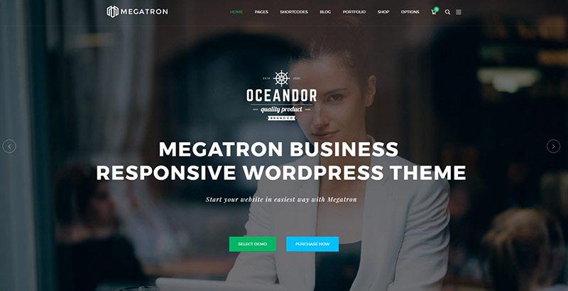 Megatron themes wordpress creer site web startup pme entreprise societe