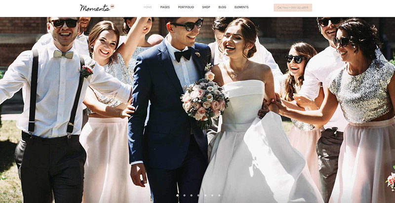 Moments themes wordpress creer site web mariage fiancailles epouse marie mariee