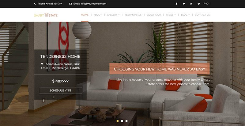 Smartestate themes wordpress creer site web agence immobiliere entreprise agent immobilier