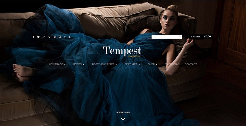 Tempest themes wordpress creer site web mode e commerce boutique en ligne vetements