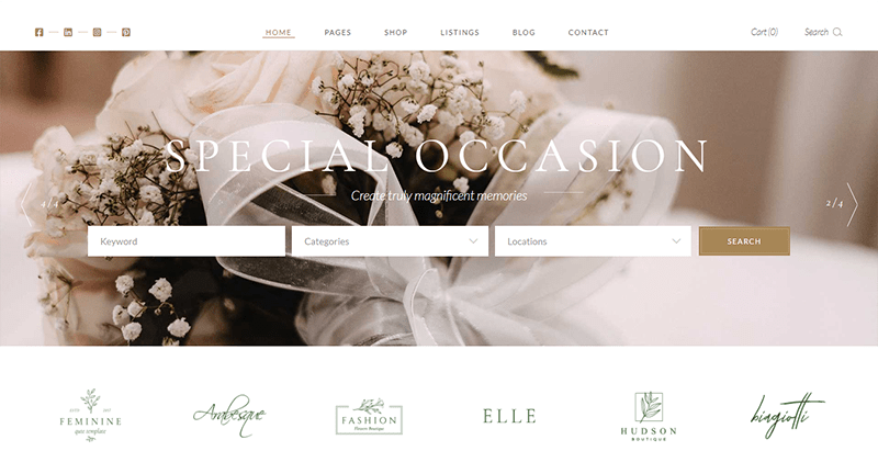 Tiare theme wordpress creer site web marriage