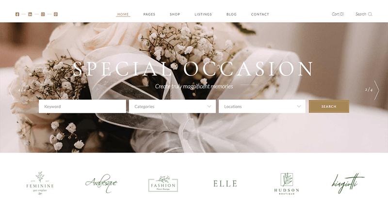 Tiare theme wordpress creer site web marriage