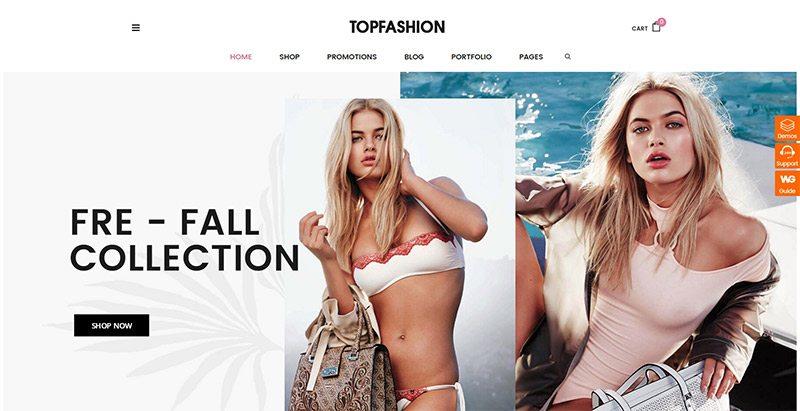 Topz themes wordpress creer site ecommerce woocommerce vente vêtement boutique en ligne