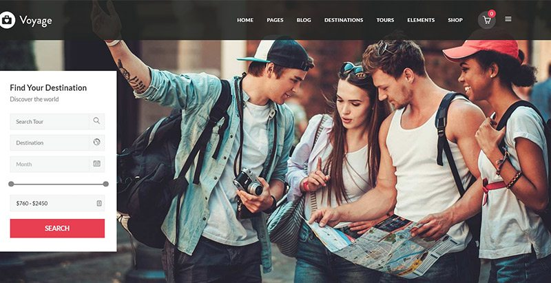 Voyage themes wordpress creer site web agence voyages tourisme hotel tour operateur
