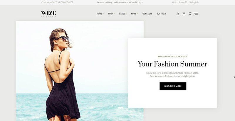 Wize meilleurs thèmes WordPress premium pour créer un site web d'e-Commerce