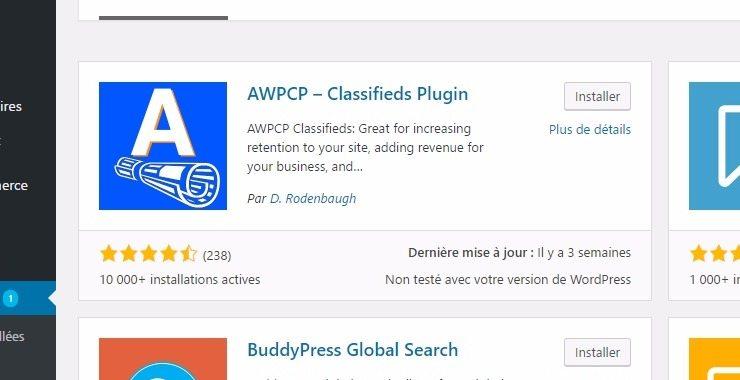Another wordpress classified plugin