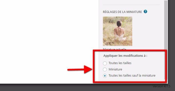 Appliquer une taille aux images