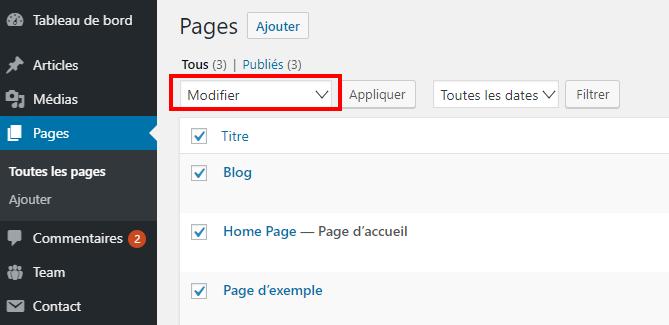 Comment autoriser utilisateurs modifier certaines pages 3