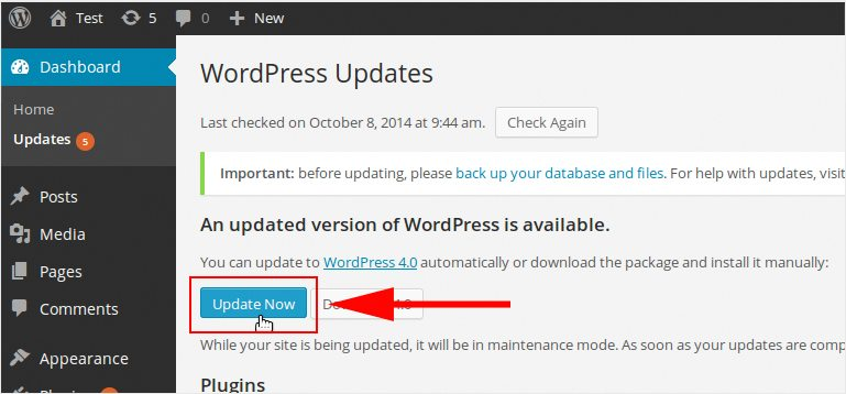 erreurs à éviter sur votre blog WordPress - Ignorer les images à jour