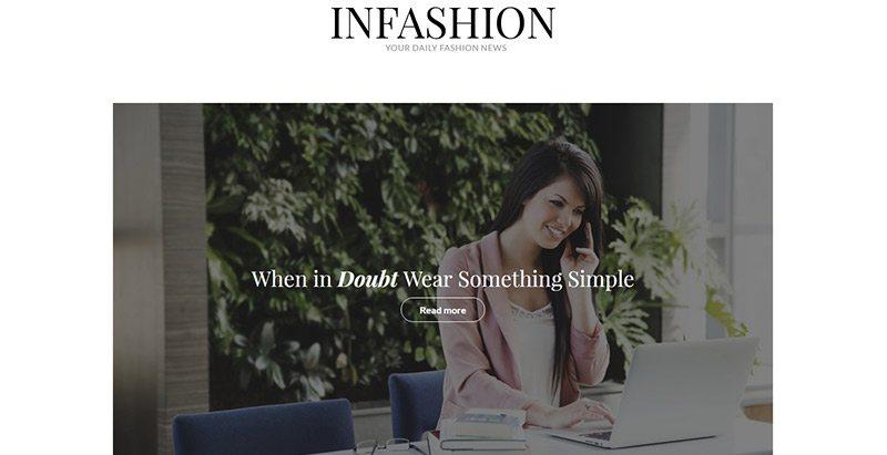 Infashion themes wordpress creer site web mode e commerce boutique en ligne vetements