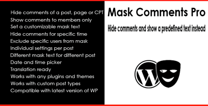 Mask comment pro plugin wordpress pour commentaire
