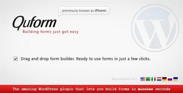 Quform plugin wordpress pour formulaires