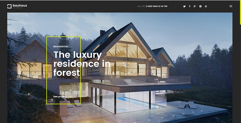 meilleurs thèmes WordPress de construction - Bauhaus themes wordpress creer site web entreprise construction architecture decoration interieure renovation