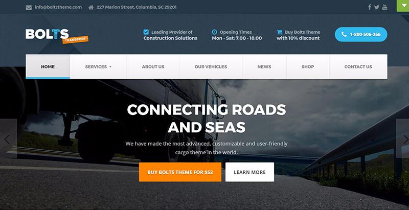 Temas de 10 WordPress para crear un sitio web comercial de carga y ...