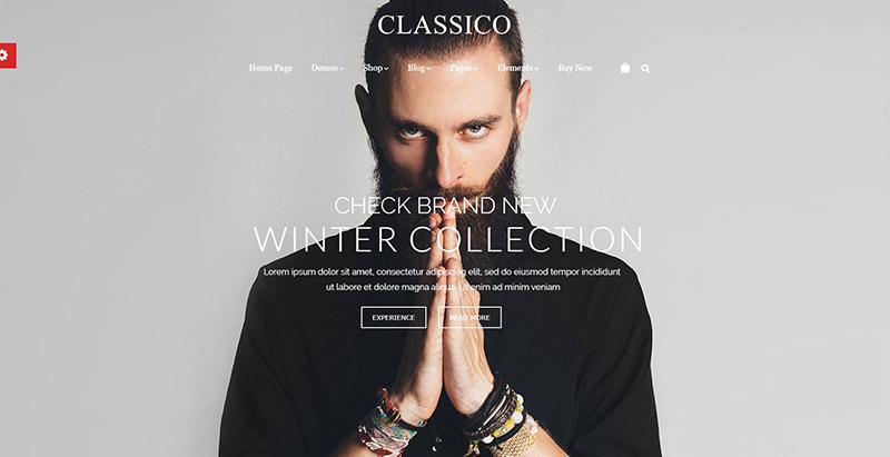 Classico themes wordpress creer boutique en ligne vetements bijoux chaussures mode